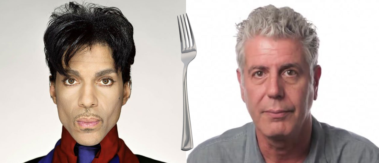 Prince and Anthony Bourdain Walk Into a Bistro: The Food Music of Prince, the Wisdom of Bourdain